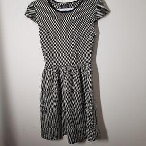 Top Shop mini dress, cat sleeve, scoop neck